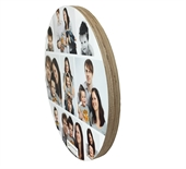 Circular Image Blocks-Birch Finish