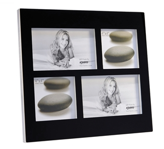 Solitaire Black Glass Frame